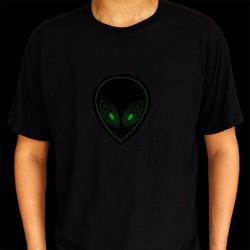 Tricou luminos cu egalizator Alien verde
