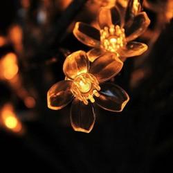 Pom decorativ 2.2 m, 400 LED-uri cu lumina alba calda, pentru exterior