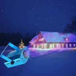 Proiector cu LED RGBW, senzor sunet si controller
