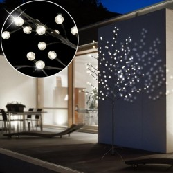 Decoratiune copac luminos cu 128 LED-uri, 160 cm, exterior