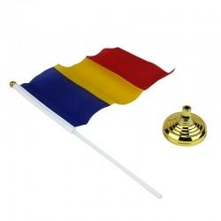 Steagul Romaniei, tricolor cu suport pentru birou, 19.5x13.5 cm