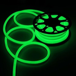 Tub Neon flexibil furtun luminos verde