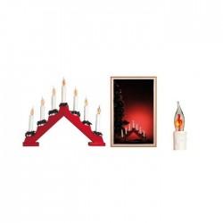Lumanari decorative de Craciun, becuri tip flacara rosii, Home