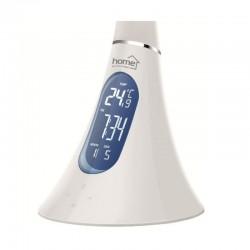 Lampa LED de birou, ceas si termometru, ecran LCD, Home