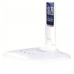 Lampa birou cu LED, calendar, ceas, alarma si termometru, touch, Home