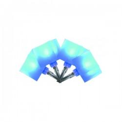 Ghirlanda 40 LED-uri cuburi luminoase, 8 programe, 6m, albastru, Home