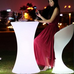 Masa cocktail LED RGB, iluminata 16 culori, control telecomanda, IP54, 110 cm