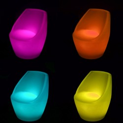 Scaun bar, LED RGBW, 240V, autonomie 12h, telecomanda, 73cm, IP54