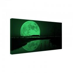 Tablou fosforescent 20x40 cm, Rasarit de Luna