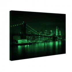 Tablou canvas fosforescent Brooklyn Bridge, 90x52 cm
