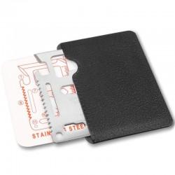 Card multifunctional de supravietuire, 11 instrumente, otel inoxidabil