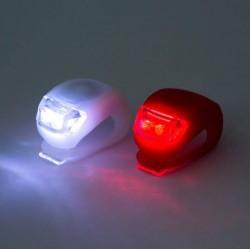 Lumini bicicleta cu LED, acoperire siliconica, set 2 bucati, Home