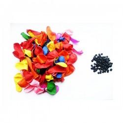 Set 100 baloane cu apa, supapa, autoetansare, multicolor