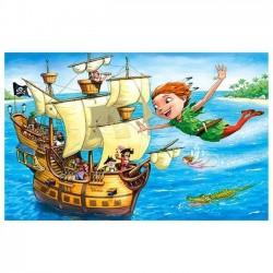 Mini puzzle personaje Disney, 120 piese, 23x16.5 cm, Castorland