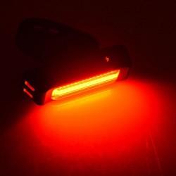 Stop LED bicicleta, vizibilitate 10m, incarcare USB, 3 moduri iluminare