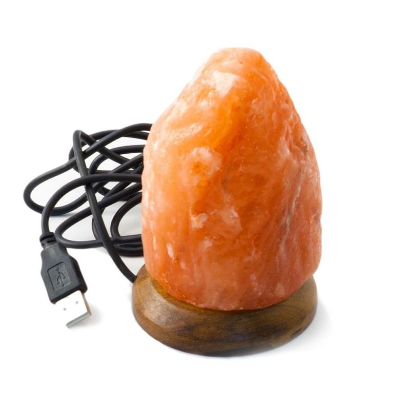 Mini lampa de sare USB multicolora