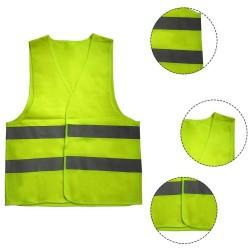 Vesta reflectorizanta protectie, vizibilitate ridicata, galben neon