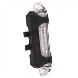 Lampa bicicleta reincarcabila, 5xLED, USB microUSB, fixare ghidon