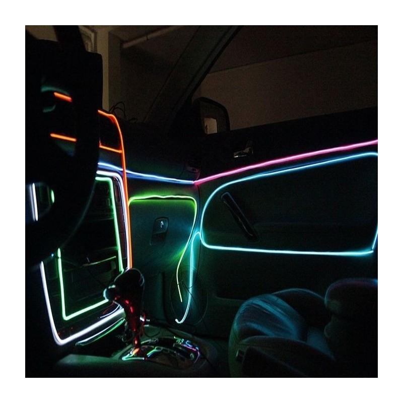 Fir cu lumina ambientala pentru auto, 2.3 mm, neon flexibil