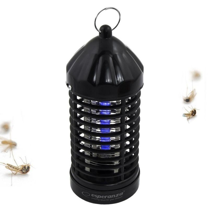 Lampa UV aniti-insecte, putere 2W, tensiune grilaj 600V, negru, Esperanza