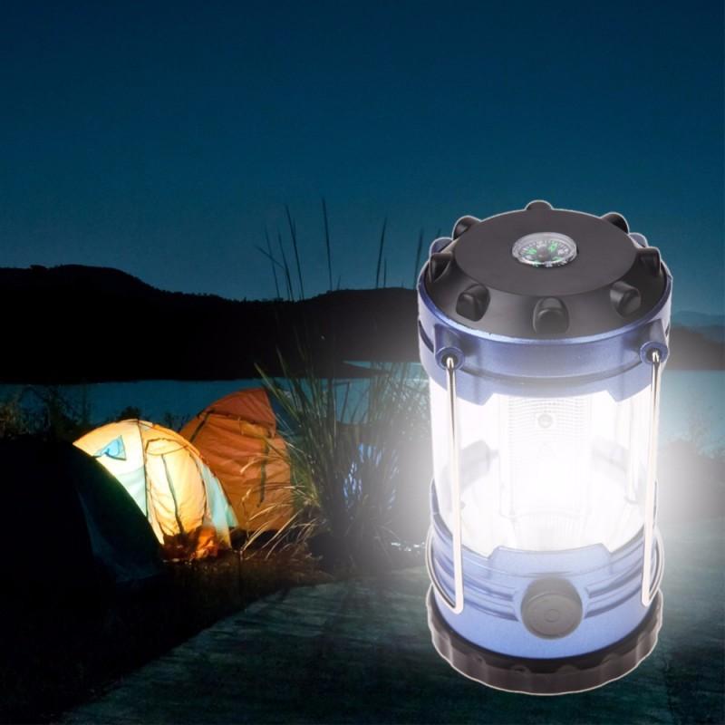 Lampa camping, 18 LED-uri, intensitate luminoasa reglabila si busola