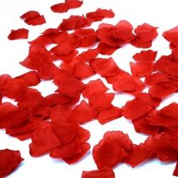 Petale decorative de trandafiri, material textil, 5x5 cm, rosu, 100 g