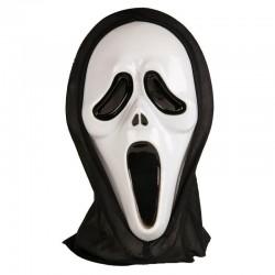 Masca Ghost Face, fosforescenta, din plastic, marime universala