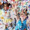 Tub confetti multicolore pentru petreceri, 60 cm