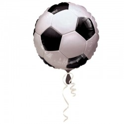 Balon folie Football Balloon, 46x55 cm, alb negru, auto-etansare