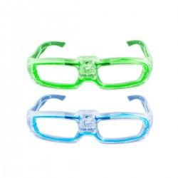 Ochelari LED cu senzor de sunet, transparenti