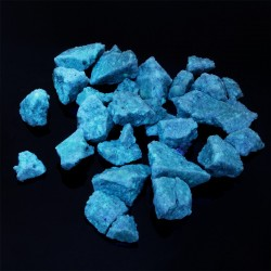 Pietricele fosforescente albastre, granulatie 35 mm, gri natur