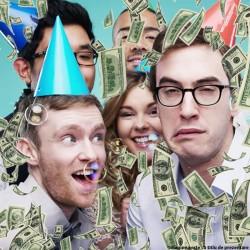 Tun confetti bani falsi pentru petrecere, 20 cm, Funny Fashion