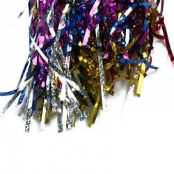 Confetti multicolore petreceri, 6 kg, forma franjuri, folie metalizata