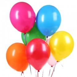 Baloane colorate latex, forma rotunda, 17 cm, set 100 bucati