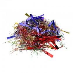 Confetti multicolore petrecere, 6 kg, forma franjuri, folie metalizata