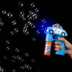 Pistol baloane sapun, LED multicolor, forma masina Police cu sirena