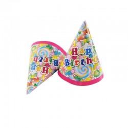 Set accesorii Happy Birthday party, 36 piese multicolore, pentru 6 persoane