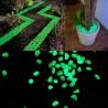 Pietricele fosforescente verzi pentru decor glow, granulatie 25 mm, natur