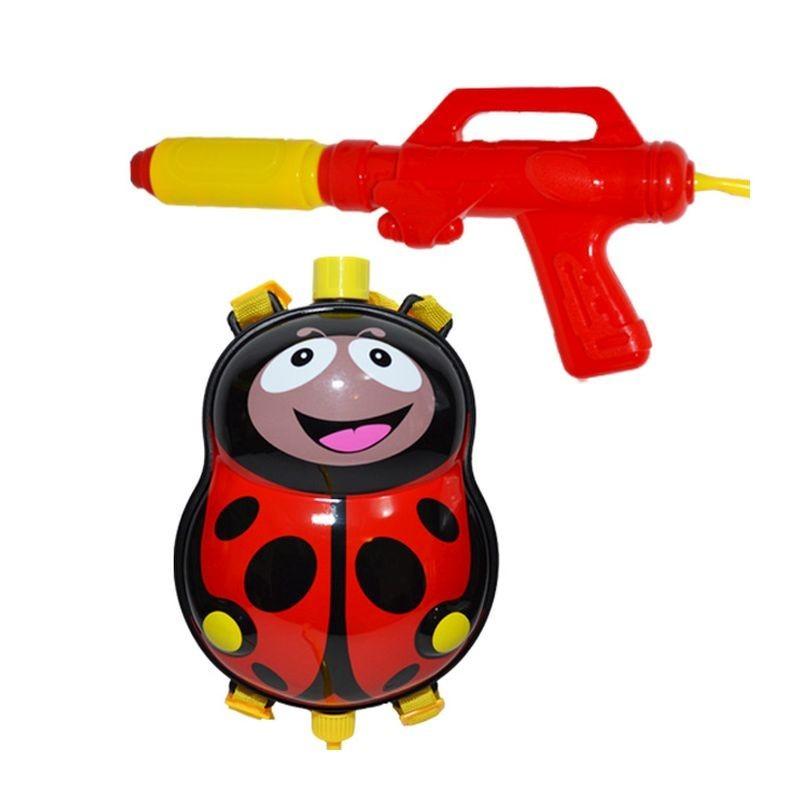 Pistol apa pentru copii, rezervor 1.8 litri, model Buburuza, ABS multicolor