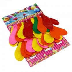 Baloane colorate pentru decor, forma inima, latex, set 20 bucat