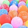 Set 20 baloane multicolore Happy Birthday, multicolore, Latex