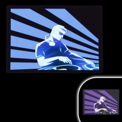 Tricou luminiscent cu egalizator Dynamic DJ