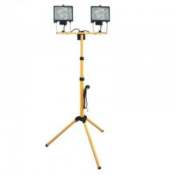 Reflector halogen cu stativ, 2x400W, de exterior IP44, inaltime reglabila, Home