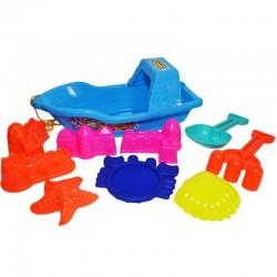 Barcuta cu 8 accesorii pentru nisip