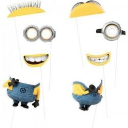 Propsuri PhotoBooth Minions, accesorii petrecere copii, set 8 bucati