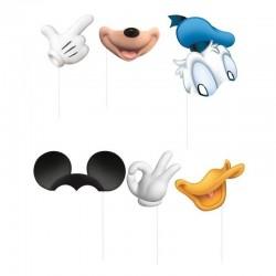 Accesorii Photo Booth pentru copii, model Donald&Mickey, set 8 propsuri