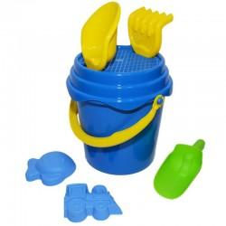 Set pentru nisip cu galeata si 6 accesorii