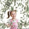 Tun confetti bani falsi, bancnota 100 dolari, pentru petreceri, 80 cm