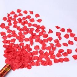 Confetti petale de trandafir rosii, tun 80 cm, decoratiuni petreceri