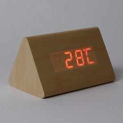Ceas quartz de birou, format 12/24 ore, senzor sunet, calendar, temperatura